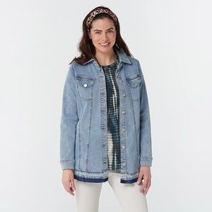 LOGO by Lori Goldstein Denim Jacket Released Hem